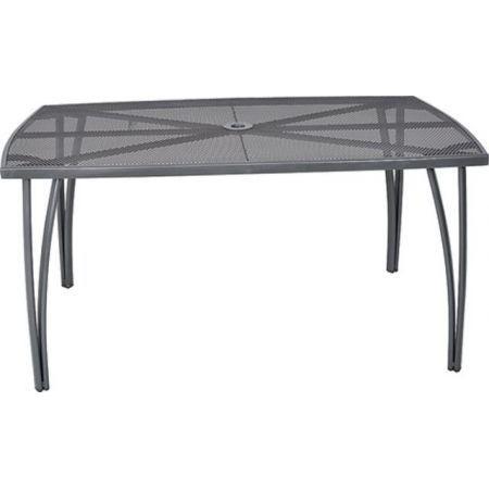 Kovový zahradní stůl obdélníkový, drátěný