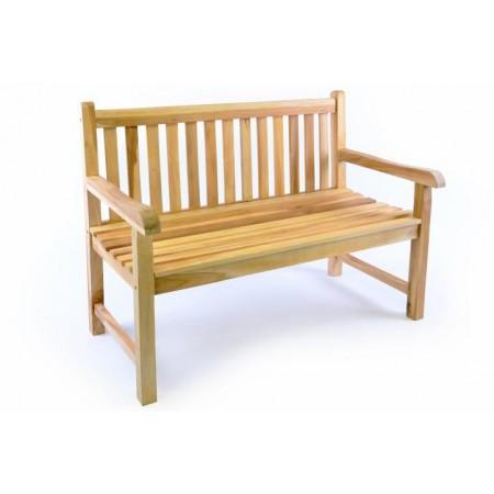 Zahradní lavice z masivu- týkové dřevo, 120 cm