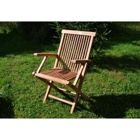 Dřevěná skládací židle z masivu- týkové dřevo
