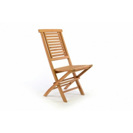 Skládací dřevěná zahradní židle bez područek- týkové dřevo