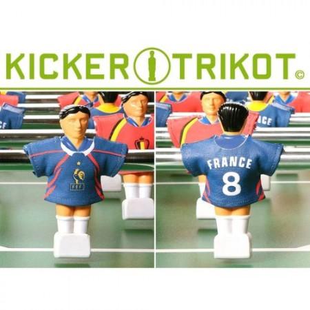 11 ks dresy pro figurky stolního fotbalu- Francie