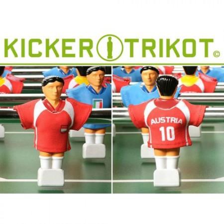 11 ks dresy pro figurky stolního fotbalu- Rakousko