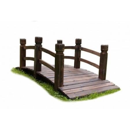 Dekorativní zahradní můstek z masivu, pochozí- nosnost 100 kg