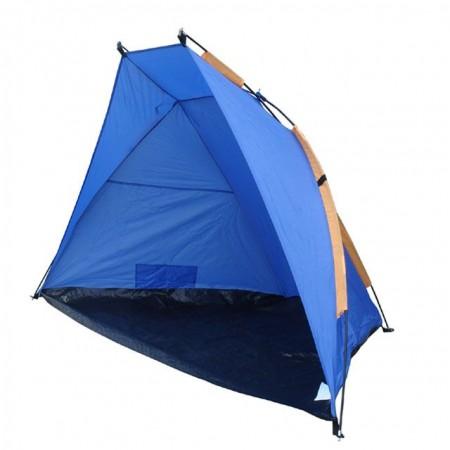 Plážový stan pro 3 osoby, 220x115x120cm, modrá / oranžová