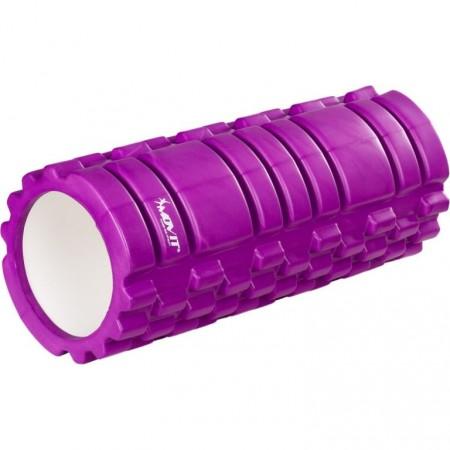 Masážní válec pro posilování a cvičení, 33 cm x 14 cm, fialový