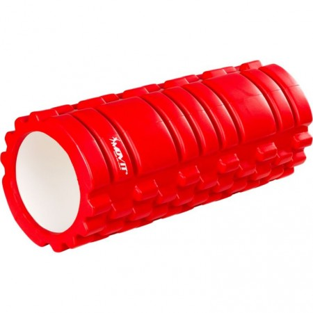 Masážní válec pro posilování a cvičení, 33 cm x 14 cm, červený
