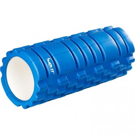 Masážní válec pro posilování a cvičení, 33 cm x 14 cm, modrý