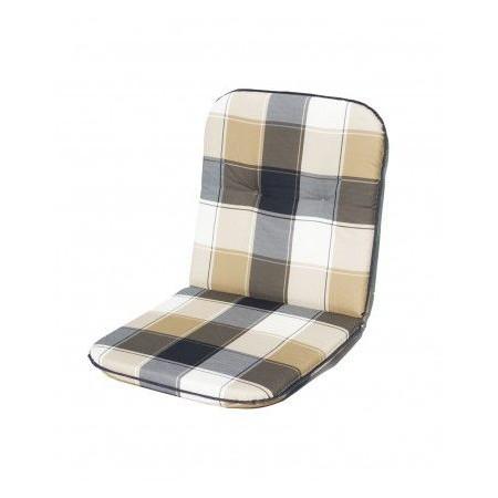 Polstr na židli s nízkým opěradlem, čtvercový motiv, bavlna
