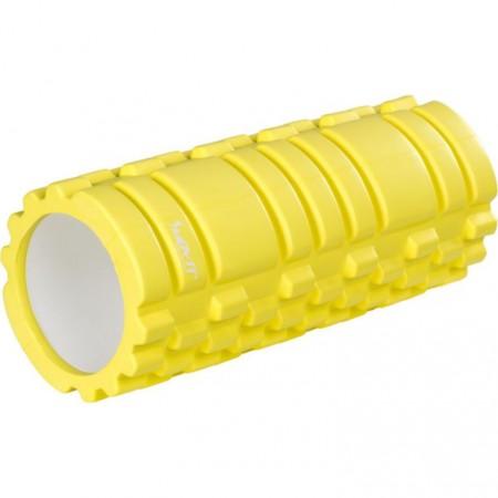 Masážní válec pro posilování a cvičení, 33 cm x 14 cm, citronový