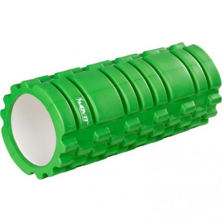 Masážní válec pro posilování a cvičení, 33 cm x 14 cm, zelený