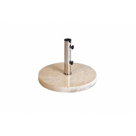 Okraný stojan na slunečník, leštěný mramor, 25 kg