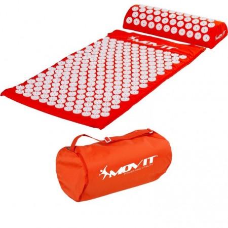 Akupresurní podložka, přenosná taška, 75x44x2,5 cm, oranžová