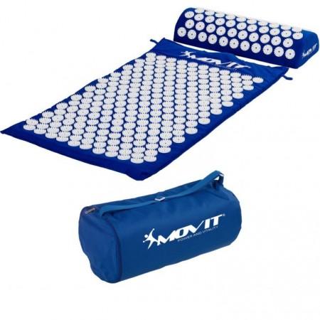 Akupresurní podložka, přenosná taška, 75x44x2,5 cm, modrá