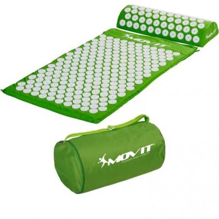 Akupresurní podložka, přenosná taška, 75x44x2,5 cm, zelená