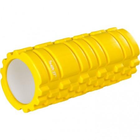 Masážní válec pro posilování a cvičení, 33 cm x 14 cm, žlutý