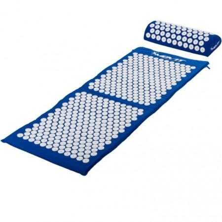 Akupresurní podložka, přenosná taška, 130x50x2,5 cm, modrá