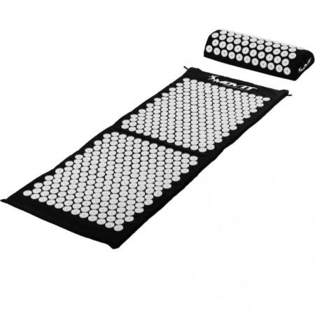 Akupresurní podložka, přenosná taška, 130x50x2,5 cm, černá