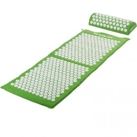 Akupresurní podložka, přenosná taška, 130x50x2,5 cm, zelená