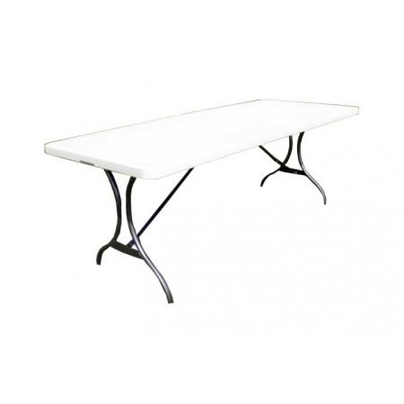 Venkovní stůl skládací 244 cm, kov / plast