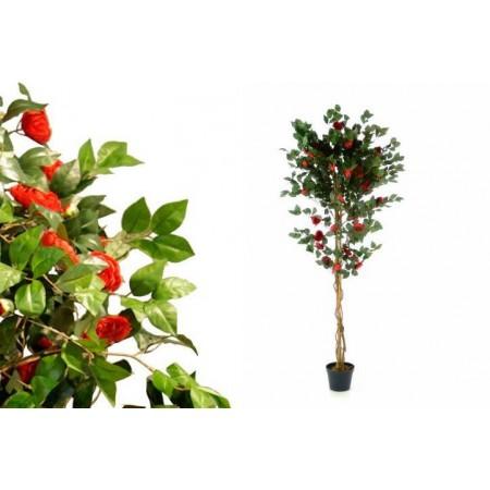 Umělá květina- Kamélie s květy jako živá, 200 cm