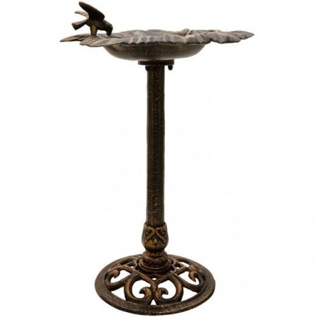 Okrasné napajedlo pro ptáky, bronzový vzhled