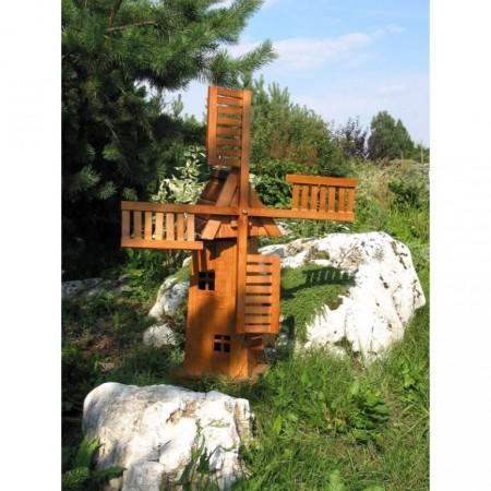 Zahradní dřevěná dekorace- větrný mlýn 75 cm