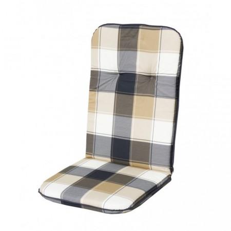 Polstrování na židli s vysokým opěradlem, bavlna, kostkovaný vzor