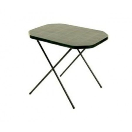 Skládací kempinkový stolek kov / plast, zelený