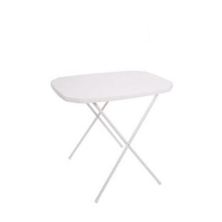 Skládací kempinkový stolek kov / plast, bílý