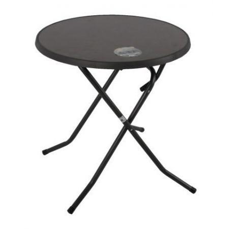 Skládací kovový stůl, deska sevelit, průměr 70 cm