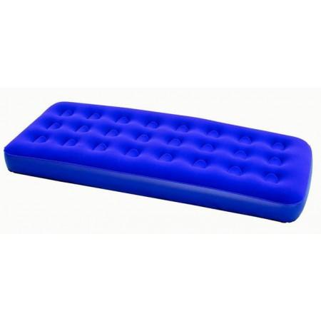 Nafukovací jednolůžko- semišový povrch, modré