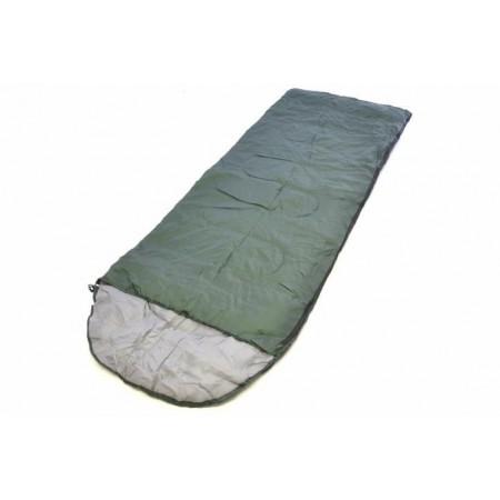Lehký letní spací pytel, polyester / hedvábí, 200 g/m², olivový