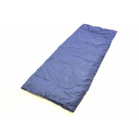 Lehký letní spací pytel, polyester / polyester, 150 g / m², šedomodrý