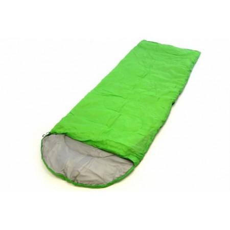 Lehký letní spací pytel, polyester / hedvábí, 200 g/m², světle zelený