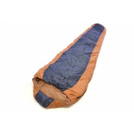 Mumiový spací pytel, polyester / hedvábí, 150 g/m², oranžový