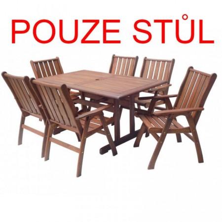 Dřevěný zahradní stůl 150 cm, tropické dřevo Meranti