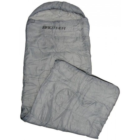 Mumiový spací pytel, taffata / duté vlákno 200 g/m2, šedý