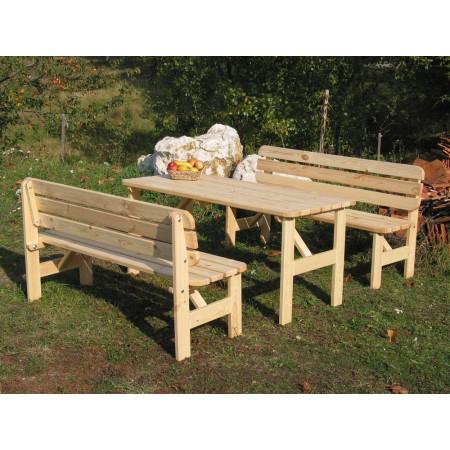 Dřevěná masivní lavice k zahradnímu nábytku 150 cm, borovice