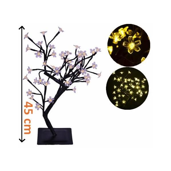Svítící okrasný stromeček- bytová dekorace, 45 cm