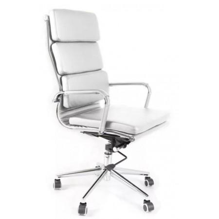 Elegantní nastavitelná kancelářká židle, eko-kůže