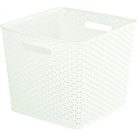 Ozdobný plastový box pro uložení věcí, krémový
