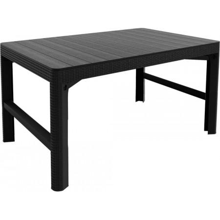 Zahradní obdélníkový stůl s nastavitelnou výškou, grafit