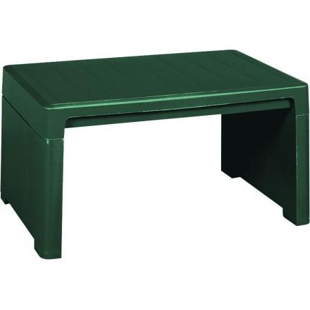 Malý zahradní plastový stolek, zelený