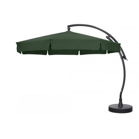 Velký luxusní slunečník s boční konstrukcí, 3,5 m, zelený