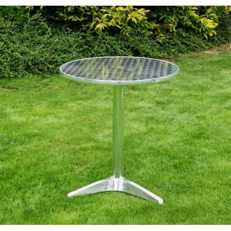 Zahradní hliníkový stolek- kulatý