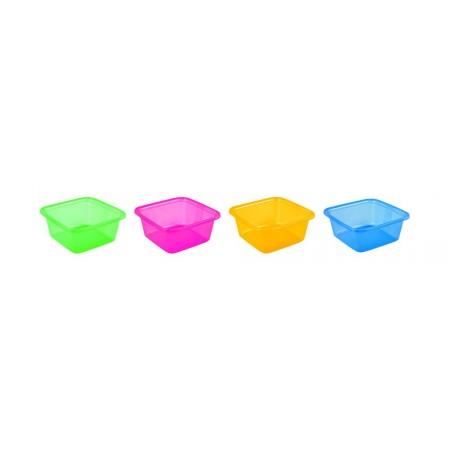 Plastová čtvercová mísa / umyvadlo 7,2 l, různé barvy