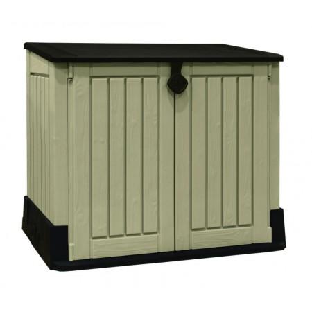 Plastová venkovní skříňka, dvoukřídlé dveře, šedá
