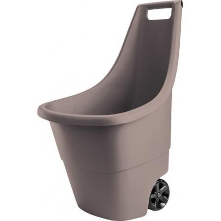 Venkovní plastový vozík se 2 kolečky pro převoz materiálu, 50 l
