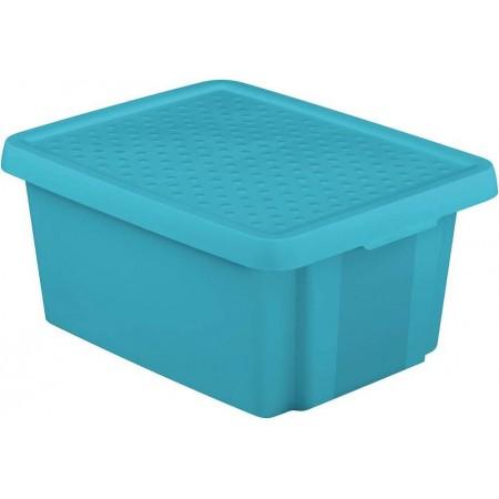 Plastová úložná bedna s víkem 20 l, modrá