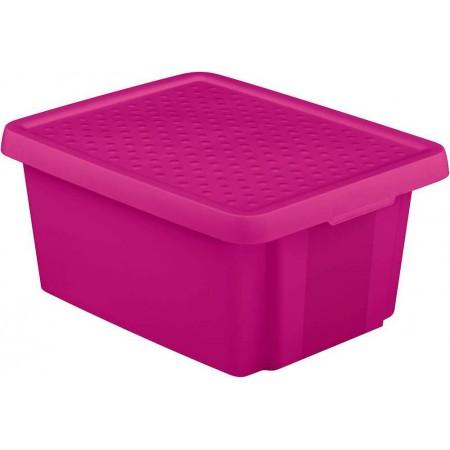 Plastová úložná bedna s víkem 20 l, fialová